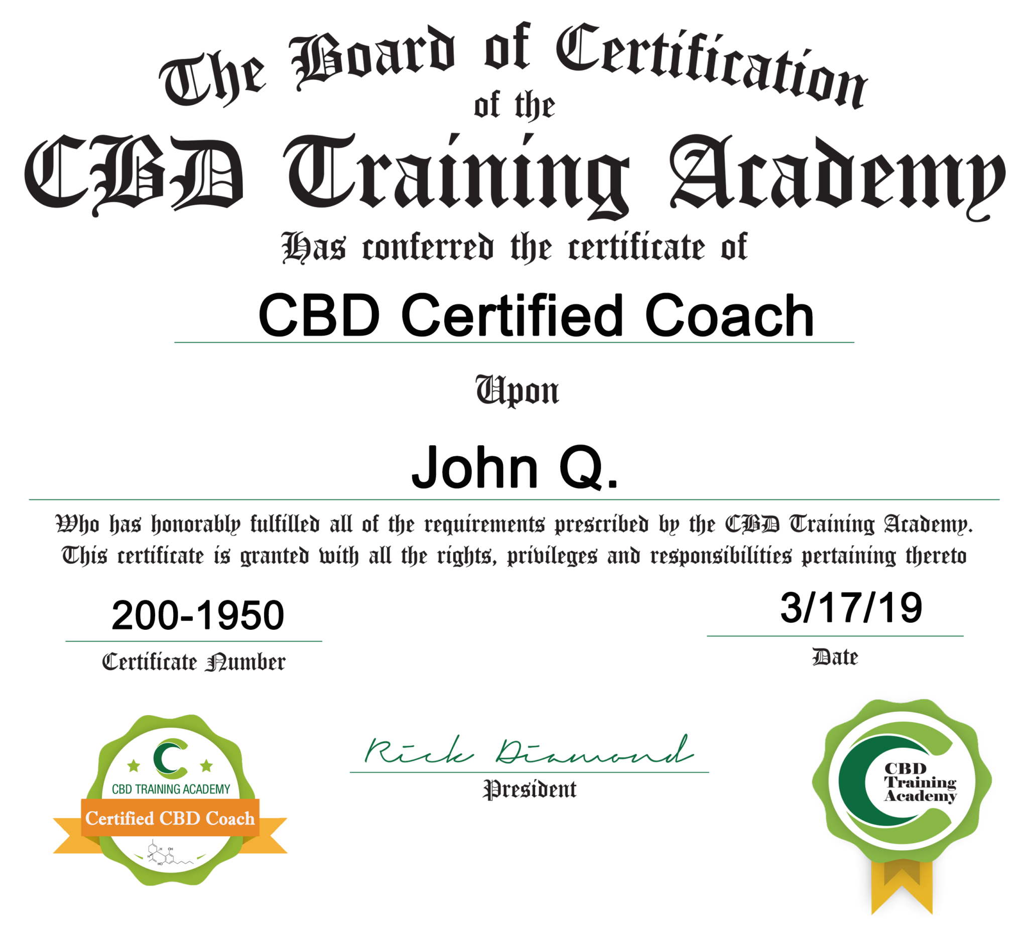 Why Certification? - CBD Training Academy