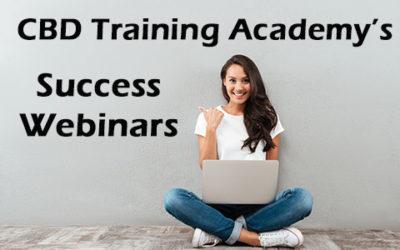 FREE CBD Business Success Webinars offered WEDNESDAYS by CBD Training Academy