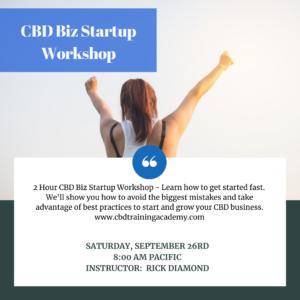 CBD Business Startup workshop