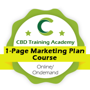 CBD Training Academy 1 Page CBD Marketing Plan course