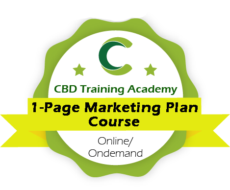 CBD Training Academy 1 Page CBD Marketing Plan course
