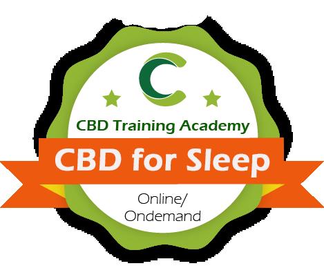 cbd for sleep cbd training academy course